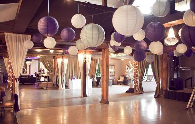 Dekoracje sali weselnej lampiony