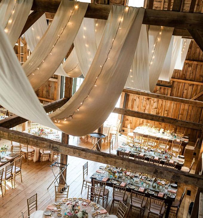 Ozdoby na sufit sali weselnej