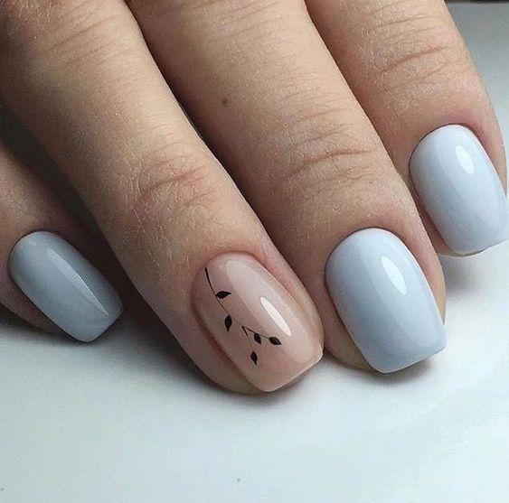 Pastelowe paznokcie ślubne