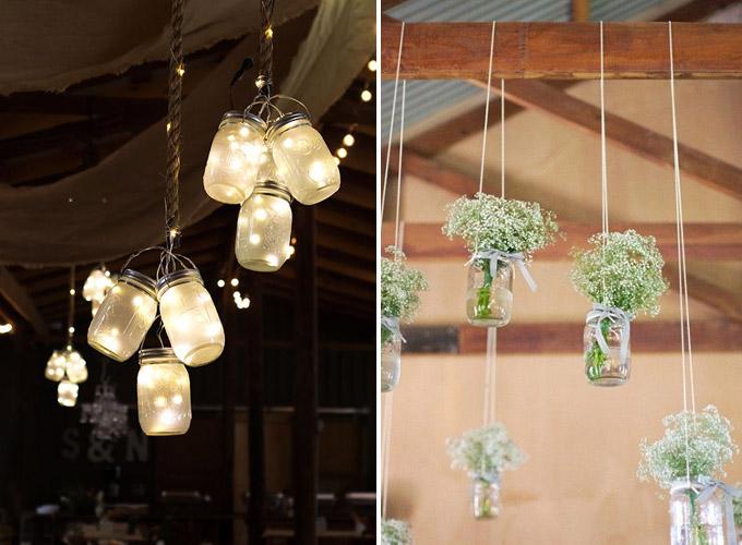 Szklane dekoracje sali weselnej